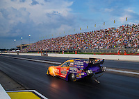 Aug 29, 2014; Clermont, IN, USA; NHRA funny car driver Bob Bode during qualifying for the US Nationals at Lucas Oil Raceway. Mandatory Credit: Mark J. Rebilas-USA TODAY Sports