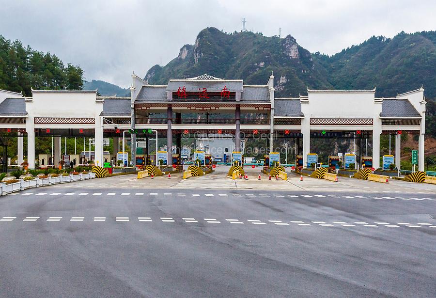 Guizhou, China.  Approaching Zhenyuan Highway Toll Station.