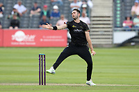 Matt Taylor in bowling action for Gloucestershire during Gloucestershire vs Essex Eagles, Royal London One-Day Cup Cricket at the Bristol County Ground on 3rd August 2021