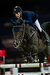 Maikel van der Vleuten on Kisby competes during Longines Speed Challenge at the Longines Masters of Hong Kong on 20 February 2016 at the Asia World Expo in Hong Kong, China. Photo by Juan Manuel Serrano / Power Sport Images