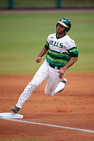 South Florida Bulls shortstop Coco Montes (5) during a game against the Dartmouth Big Green on March 27, 2016 at USF Baseball Stadium in Tampa, Florida.  South Florida defeated Dartmouth 4-0.  (Mike Janes/Four Seam Images)