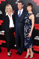 HOLLYWOOD, LOS ANGELES, CA, USA - AUGUST 13: Beau St. Clair, Pierce Brosnan, Olga Kurylenko at the World Premiere Of Relativity Media's 'The November Man' held at the TCL Chinese Theatre on August 13, 2014 in Hollywood, Los Angeles, California, United States. (Photo by Xavier Collin/Celebrity Monitor)