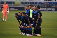 SAN JOSE, CA - SEPTEMBER 5: San Jose Earthquakes starting XI before a game between Colorado Rapids and San Jose Earthquakes at Earthquakes Stadium on September 5, 2020 in San Jose, California.