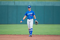 Ogden Raptors third baseman Marcus Chiu (13) during a Pioneer League game against the Orem Owlz at Home of the OWLZ on August 24, 2018 in Orem, Utah. The Ogden Raptors defeated the Orem Owlz by a score of 13-5. (Zachary Lucy/Four Seam Images)