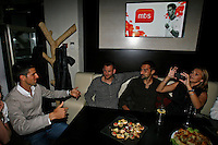 "Novak Djokovic, Nenad Zimonjic, Players Party, Novak restaurant, ATP 250 series tennis tournament ""Serbia Open"" in Belgrade, Serbia, Tuesday, April 26. 2011. (photo: Pedja Milosavljevic / SIPA PRESS)"