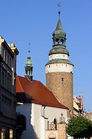 Turm der Annekapelle  in Jelenia Gora (Hirschberg), Woiwodschaft Niederschlesien (Województwo dolnośląskie), Polen, Europa<br /> Steeple of St.Anna in Jelenia Gora, Poland, Europe