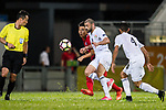 Odai Alsaify of Jordan (R) in action against Huang Yang of Hong Kong (L) during the International Friendly match between Hong Kong and Jordan at Mongkok Stadium on June 7, 2017 in Hong Kong, China. Photo by Marcio Rodrigo Machado / Power Sport Images