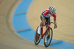 Choi Kwan Lok of the SCAA competes in the Men Junior - Sprint Qualifying category during the Hong Kong Track Cycling National Championships 2017 at the Hong Kong Velodrome on 18 March 2017 in Hong Kong, China. Photo by Chris Wong / Power Sport Images
