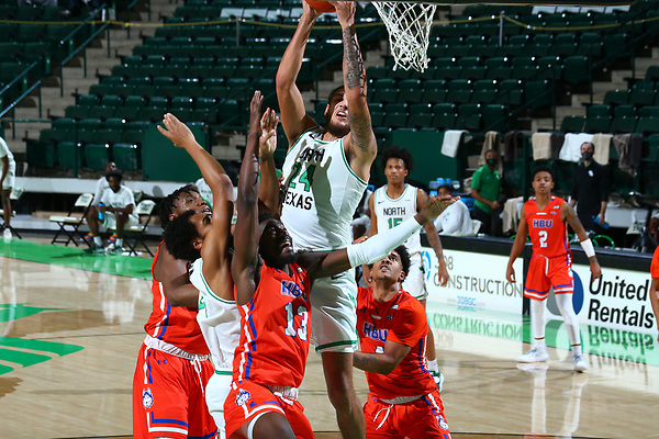 Mean Green,men's basketball at Super Pit in Denton on December 17, 2020
