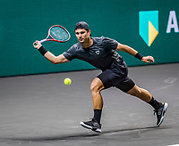 Rotterdam, The Netherlands, 27 Februari 2021, ABNAMRO World Tennis Tournament, Ahoy, Qualyfying match: Marcos  Giron (USA)<br /> Photo: www.tennisimages.com/henkkoster