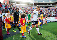 Player escorts, Christie Rampone, Hope Solo, Sydney Leroux, Becky Sauerbrunn.  The USWNT defeated Brazil, 4-1, at an international friendly at the Florida Citrus Bowl in Orlando, FL.