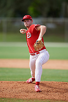 Benjamin Wiegman (53) during the WWBA World Championship at the Roger Dean Complex on October 12, 2019 in Jupiter, Florida.  Benjamin Wiegman attends Carmel Catholic High School in Antioch, IL and is committed to Louisville.  (Mike Janes/Four Seam Images)