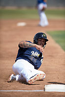 Milwaukee Brewers catcher Mario Feliciano (60) during a Minor League Spring Training game against the Kansas City Royals at Maryvale Baseball Park on March 25, 2018 in Phoenix, Arizona. (Zachary Lucy/Four Seam Images)
