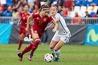 Spain's Vicky Losada England's Lucy Bronze during the frendly match between woman teams of  Spain and England at Fernando Escartin Stadium in Guadalajara, Spain. October 25, 2016. (ALTERPHOTOS/Rodrigo Jimenez) /NORTEPHOTO.COM