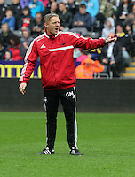 Wednesday, 23 April 2014<br /> Pictured: Head coach Garry Monk.<br /> Re: Swansea City FC are holding an open training session for their supporters at the Liberty Stadium, south Wales,