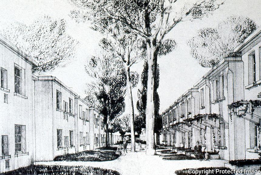 Tony Garnier:  Industrial City--Residential Quarters, view.  Photo '77.