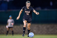 Texas defender Isabelle Kerr (14) during the first half of an NCAA soccer game, Sunday, September 21, 2014 in San Marcos, Tex. Texas defeated Texas State 2-0. (Mo Khursheed/TFV Media via AP Images)
