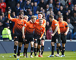 Stuart Armstrong takes the acclaim after scoring the opening goal for Dundee Utd