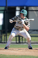 Slippery Rock catcher/first baseman Kevin Jovanovich (21) during a game against Kentucky Wesleyan College at Jack Russell Stadium on March 14, 2014 in Clearwater, Florida.  Slippery Rock defeated Kentucky Wesleyan 18-13.  (Mike Janes/Four Seam Images)