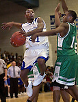 """WATERBURY, CT. 06 January 2006-010606SV11--#31 Brady Nembhard of Crosby goes up for a shot  as #1 Jamarus Matthews of Wilby defends during NVL action in Waterbury Friday. <br /> (please use credit, not archive)<br /> Steven Valenti Republican-American<br /> (Check Spelling """"Jamarus Matthews"""")"""