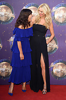"Claudia Winkleman and Tess Daly<br /> at the launch of the new series of ""Strictly Come Dancing, New Broadcasting House, London. <br /> <br /> <br /> ©Ash Knotek  D3298  28/08/2017"