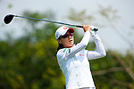 CHON BURI, THAILAND - FEBRUARY 19:  Na Yeon Choi of South Korea tees off on the 3rd hole during day three of the LPGA Thailand at Siam Country Club on February 19, 2011 in Chon Buri, Thailand. Photo by Victor Fraile / The Power of Sport Images