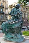 Boatbuilder monument, Saint Petersburg, Russia