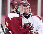 Julius Mattila (BC - 26), Jesper Mattila (BC - 8) - The Boston College Eagles practiced on the rink at Fenway Park on Friday, January 6, 2017.