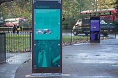 Permanent display boards, Speakers' Corner, Hyde Park, London.