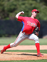 March 30, 2010:  Pitcher Mike Bolsenbroek of the Philadelphia Phillies organization during Spring Training at the Carpenter Complex in Clearwater, FL.  Photo By Mike Janes/Four Seam Images