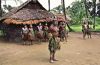 Oceania,Papua New Guinea, Septik river village chief family group