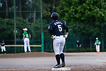 #5 Hiruta Natsuki of Japan gets the base after bating during the BFA Women's Baseball Asian Cup match between Pakistan and Japan at Sai Tso Wan Recreation Ground on September 4, 2017 in Hong Kong. Photo by Marcio Rodrigo Machado / Power Sport Images