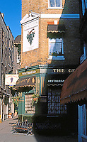 London: Shepherd's Market and The Grapes Public House.