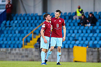 James McCarthy (left) and Ben O'Riordan of Cobh Ramblers at full time.<br /> <br /> Cobh Ramblers v Cork City, SSE Airtricity League Division 1, 28/5/21, St. Colman's Park, Cobh.<br /> <br /> Copyright Steve Alfred 2021.