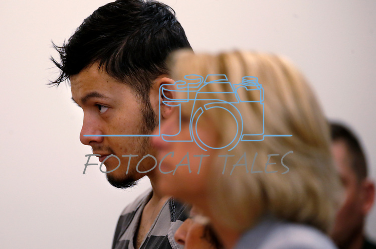 Suspected murderer Wilber Martinez-Guzman appears in Carson City Justice Court, in Carson City, Nev., on Friday, Feb. 8, 2019. Martinez-Guzman is expected to be transferred to Washoe County next week to face murder charges. (Cathleen Allison/Las Vegas Review-Journal)