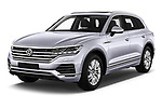 2019 Volkswagen Touareg Business-Atmosphere 5 Door SUV Angular Front stock photos of front three quarter view