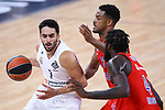 Turkish Airlines Euroleague.<br /> Final Four - Vitoria-Gasteiz 2019.<br /> Semifinals.<br /> CSKA Moscow vs Real Madrid: 95-90.<br /> Facundo Campazzo, Cory Higgins & Othello Hunter.