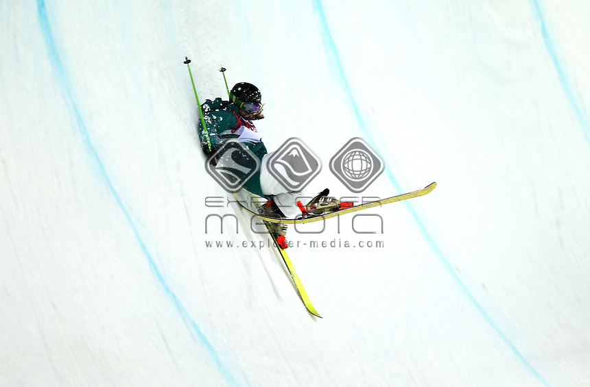 Amy Sheehan (AUS)<br /> Freestyle Skiing - Halfpipe finals<br /> Rosa Khutor  X-treme Park, Rosa Khutor<br /> 2014 Sochi Winter Olympics - Russia<br /> 20.02.2014 Sochi, Krasnodar Krai, Russia. <br /> © Sport the library / GEPA pictures/ Daniel Goetzhaber