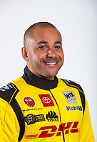 Feb 6, 2020; Pomona, CA, USA; NHRA funny car driver J.R. Todd poses for a portrait during NHRA Media Day at the Pomona Fairplex. Mandatory Credit: Mark J. Rebilas-USA TODAY Sports