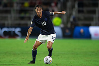 ORLANDO, FL - JULY 20: Bryan Ruiz #10 of Costa Rica dribbles the ball during a game between Costa Rica and Jamaica at Exploria Stadium on July 20, 2021 in Orlando, Florida.