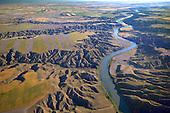 Eroded landscape along Missouri River