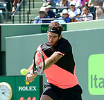 March 30 2018: Juan Martin del Potro (ARG) loses to John Isner (USA) 1-6, 6-7 (2), at the Miami Open being played at Crandon Park Tennis Center in Miami, Key Biscayne, Florida. ©Karla Kinne/Tennisclix/CSM