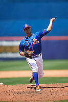 St. Lucie Mets relief pitcher Ben Griset (44) delivers a pitch during a game against the Brevard County Manatees on April 17, 2016 at Tradition Field in Port St. Lucie, Florida.  Brevard County defeated St. Lucie 13-0.  (Mike Janes/Four Seam Images)