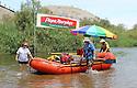 Rafting down the Colorado River in Yuma, AZ