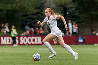 NEWTON, MA - AUGUST 29: Andi Barth #21 of Boston College brings the ball forward during a game between University of Connecticut and Boston College at Newton Campus Soccer Field on August 29, 2021 in Newton, Massachusetts.