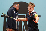 David Goffin, Belgium, during Madrid Open Tennis 2015 match.May, 6, 2015.(ALTERPHOTOS/Acero)