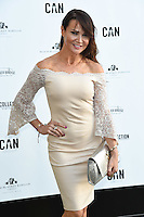 Lizzie Cundy<br /> arrives for the Amy Childs Summer Collection show at Beach Blanket Babylon, Notting Hill, London.<br /> <br /> <br /> ©Ash Knotek  D3129  06/06/2016