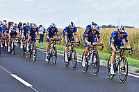 1st July 2021; Chateauroux, France; TEAM DECEUNINCK QUICKSTEP  during stage 6 of the 108th edition of the 2021 Tour de France cycling race, a stage of 160,6 kms between Tours and Chateauroux on July 1