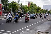 Yogyakarta, Java, Indonesia.  Evening Rush-hour Traffic, Jl. Laksda Adisucipto Street.