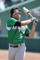 Dayton Dragons second baseman Sammy Diaz (5) before a game against the Lansing Lugnuts on August 25, 2013 at Cooley Law School Stadium in Lansing, Michigan.  Dayton defeated Lansing 5-4 in 11 innings.  (Mike Janes/Four Seam Images)